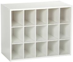 amazoncom closetmaid 15cubby shoe organizer white home u0026 kitchen