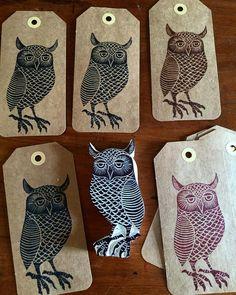 Geninne D Zlatkis ( Stamp Printing, Screen Printing, Linocut Prints, Art Prints, Linoleum Block Printing, Stamp Carving, Handmade Stamps, Owl Always Love You, Tampons