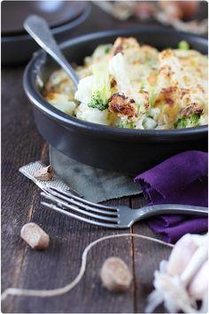 Gratin de brocolis et chou fleur au reblochon/ChefMini