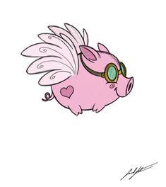 Sarahs Sketchbook: Fly Little Pig, FLY!