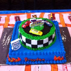 Hot wheels cake I made.