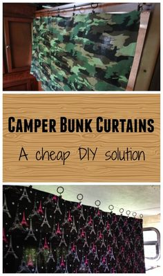 Cheap and quick solution to create camper bunk curtains. #Ikeahacks