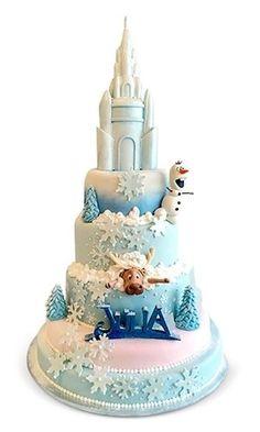Baby D icas Frozen Birthday Party, Disney Frozen Party, 3rd Birthday Cakes, Bolo Frozen, Torte Frozen, Fancy Cakes, Cute Cakes, Pink Cakes, Bolo Elsa