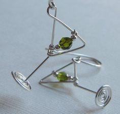 Martini Glass Earrings #JewelryInspiration #CousinCorp