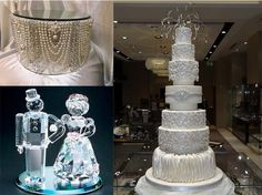 extravagent crystal wedding cakes | Crystal candlesticks and crystal ball have magic to decorate wedding ...