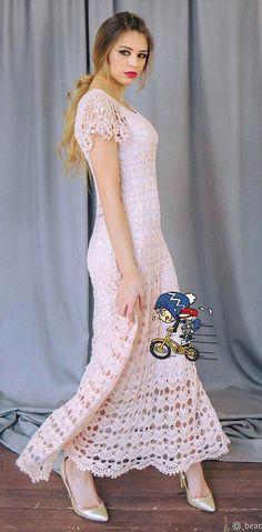 Lindo vestido crochê