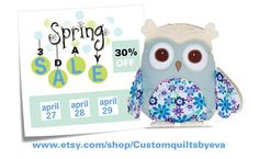 SALE / Owl Room Decor Owl Throw Pillow by Customquiltsbyeva