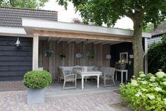 ideëen voor tuinhuis en decoratie - Buitenkamer met plat dak