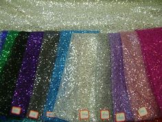 Sequins on polyester mesh
