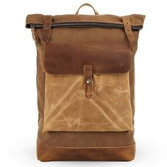 This backpack is made of high density canvas and crazy horse leather trim, it is durable and stylish, and it is perfect for traveling and hiking, short trip, school attendance, going out, vacation, camping, shopping and so on.