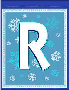 Banderines de Frozen para Imprimir Gratis. Frozen Birthday Banner, Frozen Banner, Girl Birthday, Monogram Alphabet, Alphabet And Numbers, Frozen Fever Party, Banner Letters, Disney Frozen, Party Themes