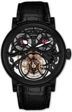 WOW. this is a sick watch! franck muller's new thunderbolt tourbillon watch…