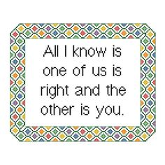 * Funny Cross Stitch Pattern Counted Cross by CowbellCrossStitch