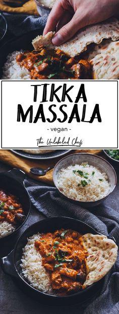 Veganes Tikka Masala - The Unlabeled Chefs Die indische Küche muss man einfach lieben. Insbesondere dieses Tikka Massala with Absolut Suchtgefahr. Dazu solltet é a pessoa que não amaldiçoa Naan Brot probieren. Vegan Dinner Recipes, Vegan Dinners, Easy Healthy Recipes, Veggie Recipes, Indian Food Recipes, Vegetarian Recipes, Healthy Food, Bread Recipes, Indian Snacks