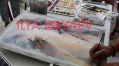 Watercolor  Ilya Ibryaev ( Masterclass  I - Antalya) Lıght and Trees