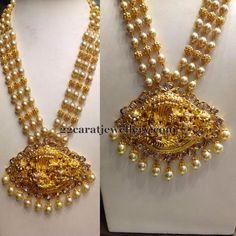 Jewellery Designs: Pearls Haram with Krishna Locket