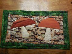 Paddestoelen (Mushrooms) Paperpiecing. Birthdaypresent for Lina