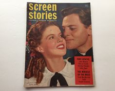 Screen Romances Magazine May 1948 - Cover Shirley Temple and John Agar - Vintage Movie Magazine - Inside Veronica Lake & John Wayne by BagBagSydVintage on Etsy