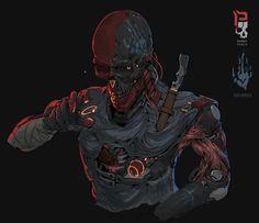 Sicario by Ching Yeh on ArtStation. Character Concept, Character Art, Concept Art, Dark Fantasy, Fantasy Art, Fantasy Comics, Cyberpunk Kunst, Futuristic Art, Creepy Art