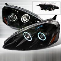 Cheap 2005-2006 Acura RSX CCFL Halo Projector Headlights Black sale