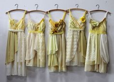 Custom Yellow Bridesmaids Dresses by ArmoursansAnguish on Etsy