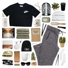 """romantic poetry"" by symone-i ❤ liked on Polyvore featuring Linum Home Textiles, Korres, Michael Kors, Boohoo, Arabia, NIKE, Chanel, Maison Margiela, Supersmile and le mouton noir & co."