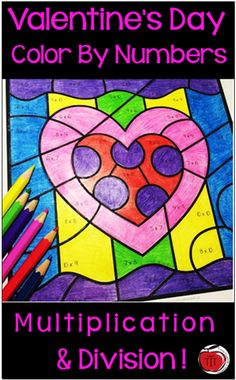Engage your students with these LOW PREP multiplication and division color by number activities. Perfect for Valentine's Day in a grade or 5 classroom. Created by TchrBrowne / Terri's Teaching Treasures 4th Grade Multiplication, Third Grade Math, Grade 3, Fourth Grade, Second Grade, Number Activities, Teaching Activities, Teaching Ideas, Valentines Day Activities