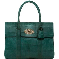 Bayswater Pheasant Green Croc Haircalf ($2,205) ❤ liked on Polyvore featuring bags, handbags, shoulder bags, purses, bolsas, women, green shoulder bag, mulberry purse, croc handbags and green handbags