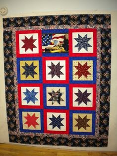 Quilts of Valor: Floating Stars in Idaho veteran quilt, quilt pattern