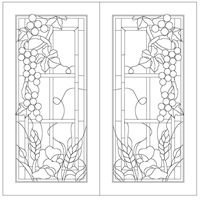 Stained glass patterns::Patterns no 4 grapevine panels Hama Beads Patterns, Mosaic Patterns, Beading Patterns, Stained Glass Patterns, Stained Glass Art, Concrete Sculpture, Paper Clay, Window Design, Coloring Books