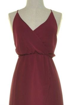 Relaxed Tulip Maxi Color: Wine, Size: Large