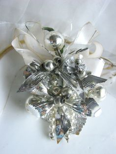 Vintage Silver Christmas Corsage