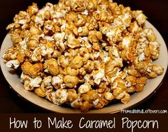 This delicious caramel popcorn recipe uses honey instead of corn syrup. Print the recipe or save it to your recipe box.