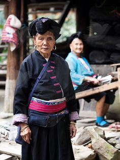 Yao minority woman in Guanxi, China
