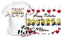 Camiseta Gru Minions San Valentin Tshirt T-Shirt Xxl Valentine Amor Love Regalo - Bekiro
