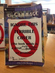 Ignore this terrible cover - great library idea to increase circulation of older books or books with ugly dust jackets Great idea! I should do this in my library School Library Displays, Middle School Libraries, Elementary Library, Public Libraries, Library Work, Teen Library, Library Bulletin Boards, Dream Library, Library Inspiration