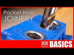 Woodworking Jigs This is a great video! I learned a ton! Beginner's guide to pocket hole joinery Woodworking Jigsaw, Used Woodworking Tools, Woodworking Basics, Woodworking Logo, Beginner Woodworking Projects, Woodworking Joints, Woodworking Workshop, Woodworking Techniques, Youtube Woodworking