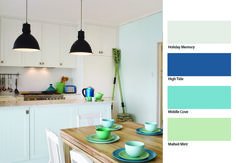 #Aqua colours don't only look good in a bathroom setting, #Taubmans have come up with this cool look for your kitchen too! #Paint
