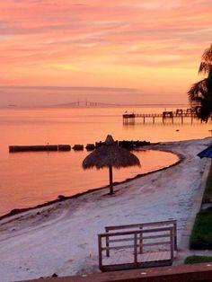 Sunset at Pinellas Point, FL