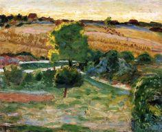 Landscape with Green Trees / Pierre Bonnard - circa 1921