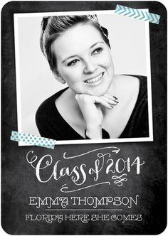 Absolutely LOVE this high school graduation announcement.  #TinyPrintsGrad #graduation