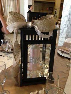 Lantern Centerpiece -my wedding centerpiece