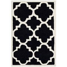 Safavieh Chatham Collection CHT730K Handmade Black and Ivory Wool Area Rug, 2 feet by 3 feet (2' x 3') Safavieh http://www.amazon.com/dp/B00C3W5ECW/ref=cm_sw_r_pi_dp_7eeawb14YE5D9
