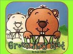 Groundhog Hat Fun! Here is a printable groundhog craft for your students. Let your students participate in their own Groundhog day festivities this February or during your groundhog science unit. The groundhog hat comes in color and black and white.