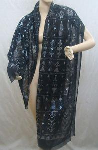 Vintage Art Egyptian Tulle Bi Telli Assuit Scarf Shawl   eBay
