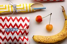 Use paper treat bags for colorful school lunches! #BackToSchool