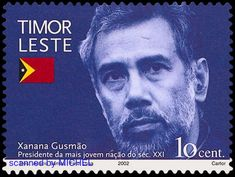 Timor-Leste 2002 - President Xanana Gusmao Theme List, Timor Leste, Presidents, Stamps, This Or That Questions, Face, Fictional Characters, Postage Stamps, Stamping