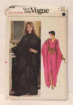 B59 Vintage Pattern * 80's 90's CAFTAN Lounge Wear * EVENING DRESS * SEXY LARGE