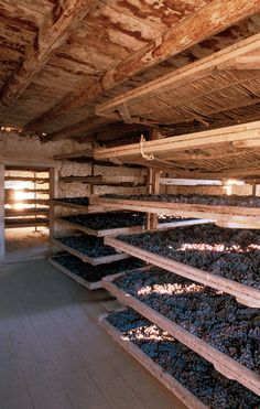 WINE The Potent King of the Valpolicellas in the NY Times Drying the grapes for the production of Amarone wine Amarone Wine, Wine Images, Wine Cellar, Verona, Ny Times, Cork, Vineyard, Houses, Content