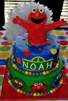 Noah's fab elmo/sesame street cake